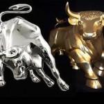 priset för silver och guld