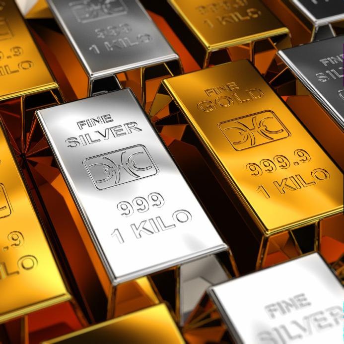 Silver- och guld-tackor
