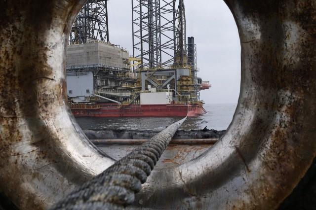 Olja: Ett fartyg på Nordsjön